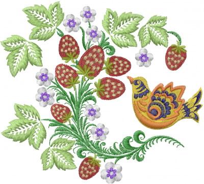 Strawberry Ornament Embroidery Design Annthegran