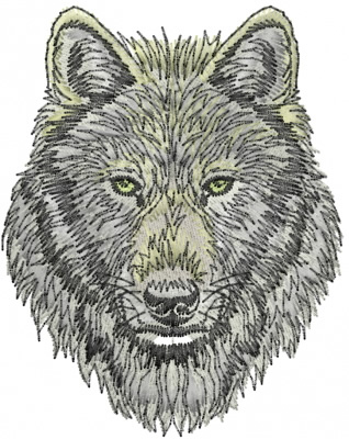 Wolf Embroidery Design  Wildlife Embroidery Designs