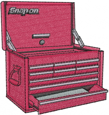 Snap On Tool Box Embroidery Design