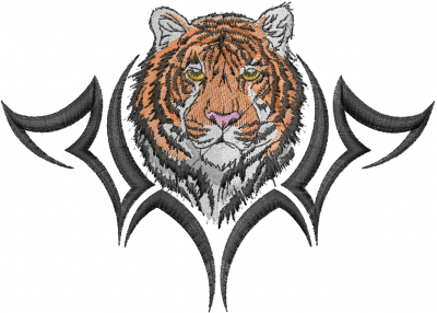 Tiger Head Tattoo Embroidery Design Annthegran