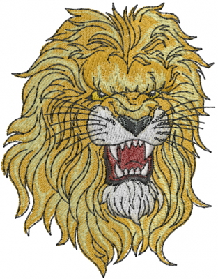 Lion Head Embroidery Design  Cats Embroidery Designs