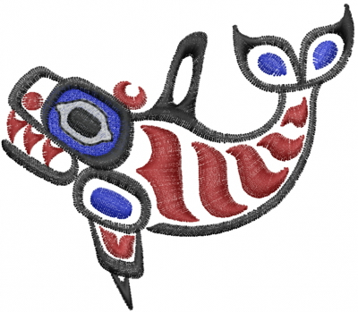 Totem Pole Tribal Whale Embroidery Design | AnnTheGran