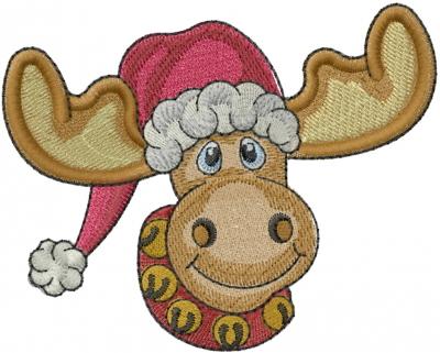 christmas moose embroidery design annthegran - Christmas Moose