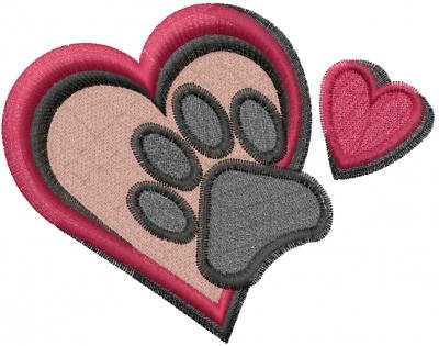 Cluster of hearts applique design valentine s day design satin