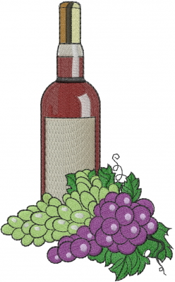 Wine Bottle Machine Embroidery Designs