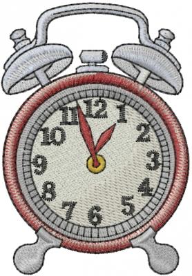 machine embroidery clock designs