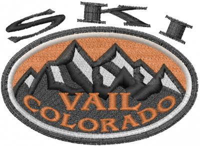 Ski Vail Embroidery Design   AnnTheGran