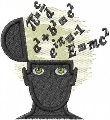 math brain embroidery design annthegran