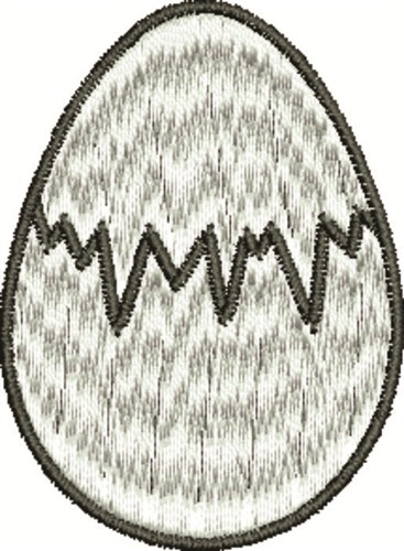 Cracked Egg Embroidery Design