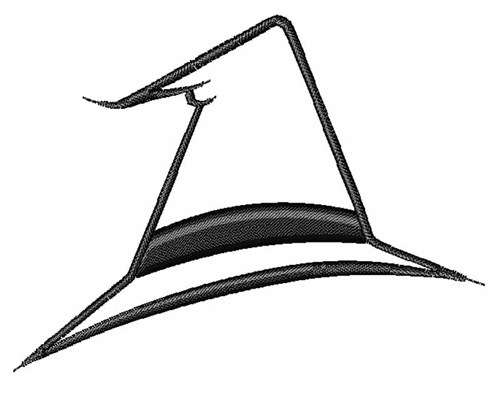 Witch Hat Outline Embroidery Design Annthegran