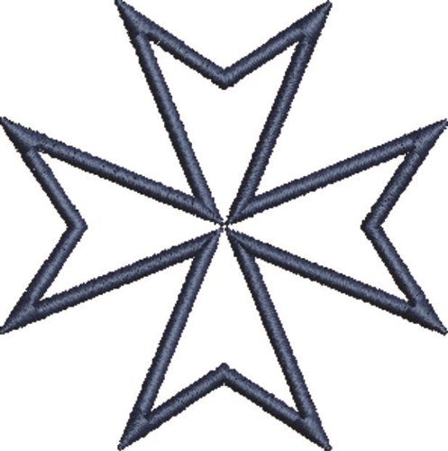 Maltese Cross Outline Embroidery Design