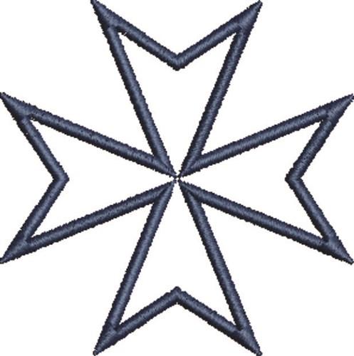 Maltese Cross Outline Embroidery Design Annthegran