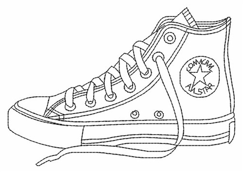 Converse Shoe Embroidery Design
