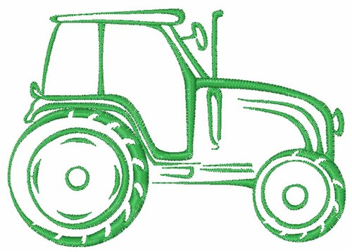 Embroidery Of Tractors : Tractor outline embroidery design annthegran