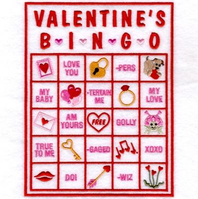 valentine bingo card 6 embroidery design annthegran - Valentine Bingo Cards