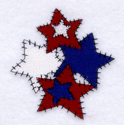 Free Country Star Cluster Embroidery Design Annthegran