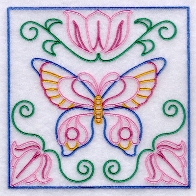 Butterfly Garden Quilt Pattern Embroidery Design Annthegran