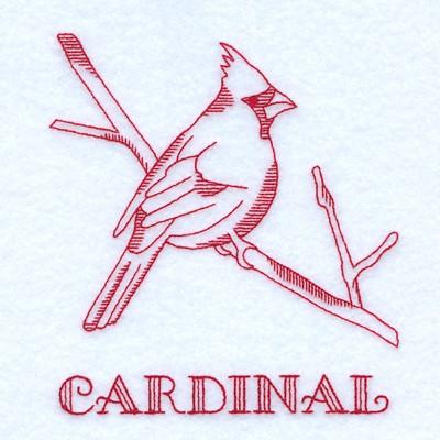 Cardinal Embroidery Design Annthegran