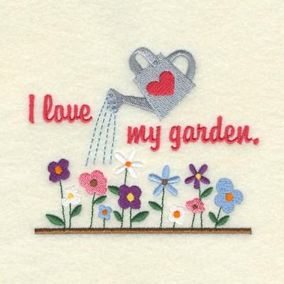 Love My Garden Embroidery Design AnnTheGran