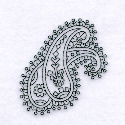 Paisley Outline 3 Small Embroidery Design Annthegran