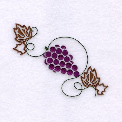 Grape Stencil Embroidery Design Annthegran