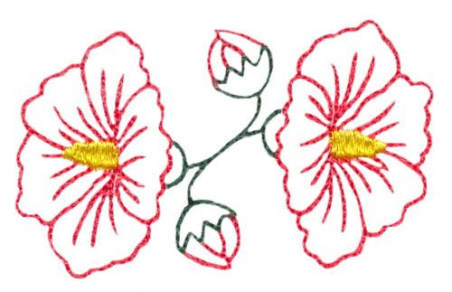 Hibiscus Flower Outline Embroidery Design Annthegran