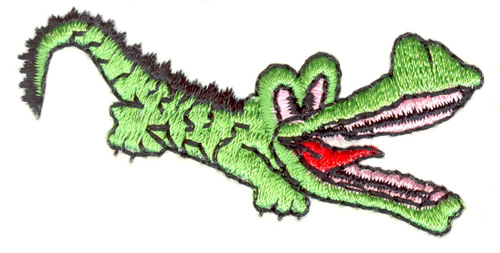 Alligator Head Applique Machine Embroidery Design by ...  |Alligator Design Embroidery Floss