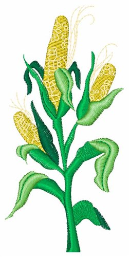 Corn Stalk Embroidery Design - Foods Embroidery Designs - AnnTheGran ...