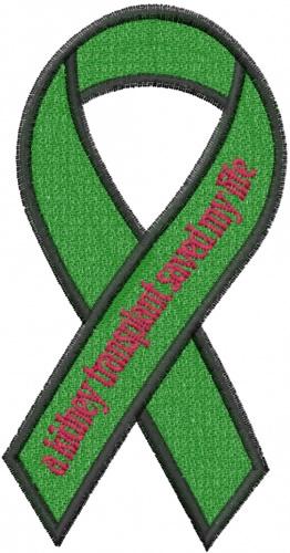 kidney transplant ribbon embroidery design annthegran