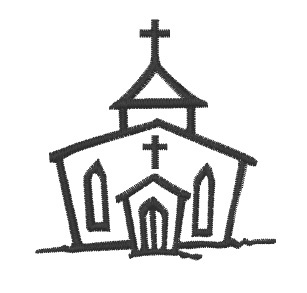 Church Outline Embroidery Design Annthegran