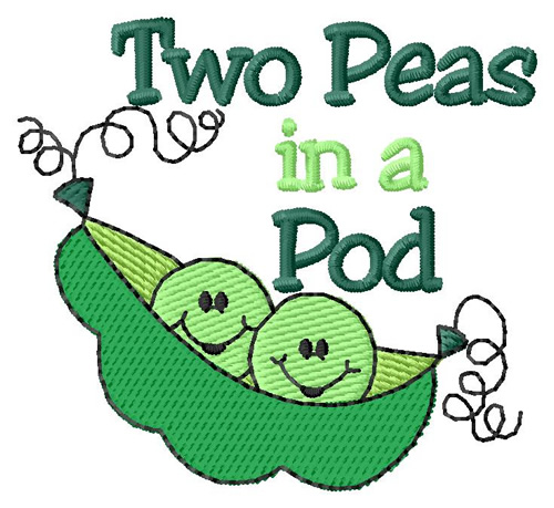 Two Peas In A Pod Embroidery Design Annthegran