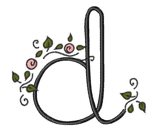 Rose Vine Swirl D Embroidery Design Annthegran