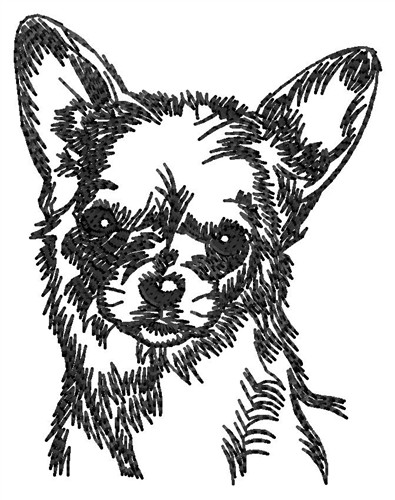 Animals Embroidery Design: Chihuahua from Windmill Designs