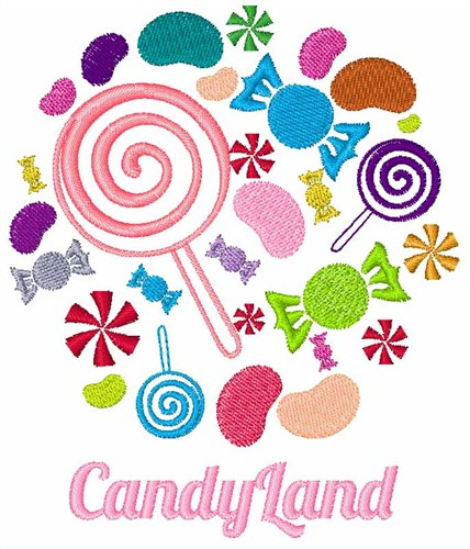 Candy Land Embroidery Design | AnnTheGran