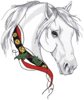 Christmas Horse Pictures.Christmas Horse Embroidery Design