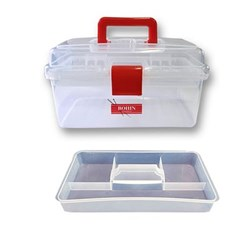 Clear Plastic Sewing Box - Medium