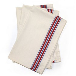 American Striped Herringbone Weave Dish Towels - 3 Pack