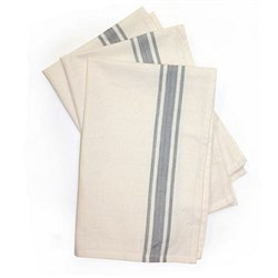 Gray Bold Striped Towels - 3 pack