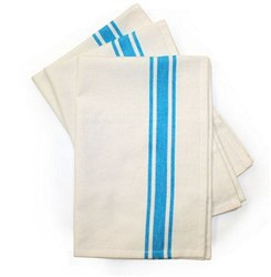 Turquoise Bold Striped Towels-  Pack of 3