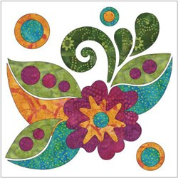 Zen Flowers & Leaves Applique