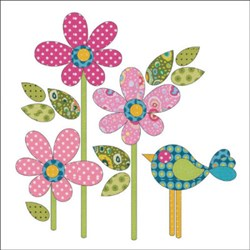 Daisy Dotz - Pink - Small Applique Pieces