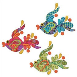 Tropical Fish Set - Dotz Applique Pieces