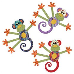 Monkey Tales Dotz Applique Pieces