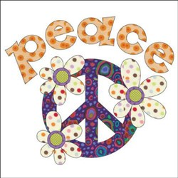 Peace Applique Pieces