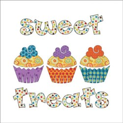 Sweet Treats - Cupcake Panel Applique Pieces