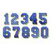 Applique Numbers embroidery design pack